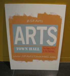 EVENT RECAP: SF Arts Town Hall on  8/20/12
