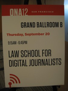 EVENT RECAP: ONA12 Law School For Digital Journalists